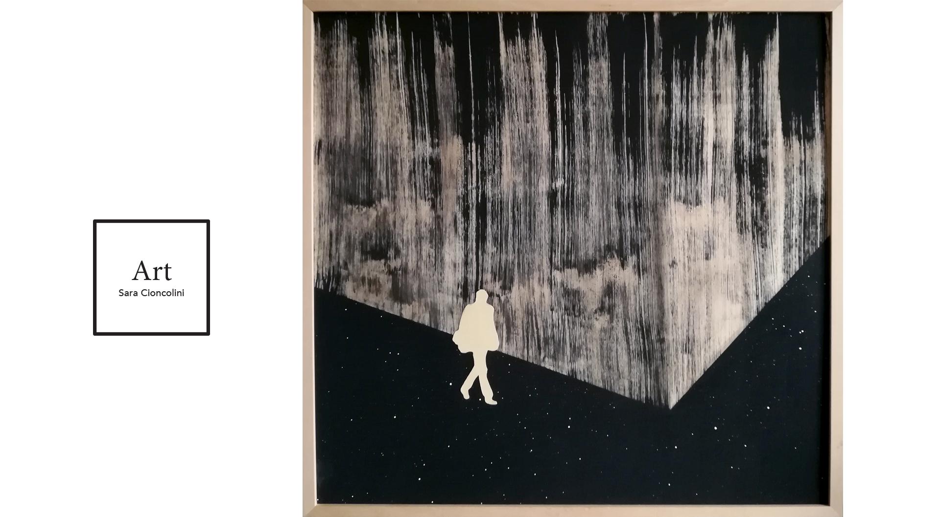 VERNISSAGE ARTE CONTEMPORANEA. la mostra collettiva di arte contemporanea organizzata dalla Galleria Itinerante presso il locale presso Foodstock Vini & Vinili ad Arezzo. L'esposizione comprende anche due mie opere