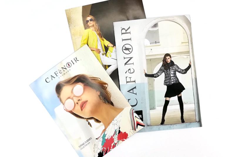 Cataloghi impaginazione Cafènoir, moda e calzature